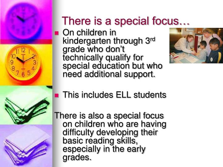 There is a special focus…