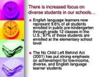 there is increased focus on diverse students in our schools