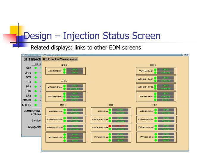 Design – Injection Status Screen