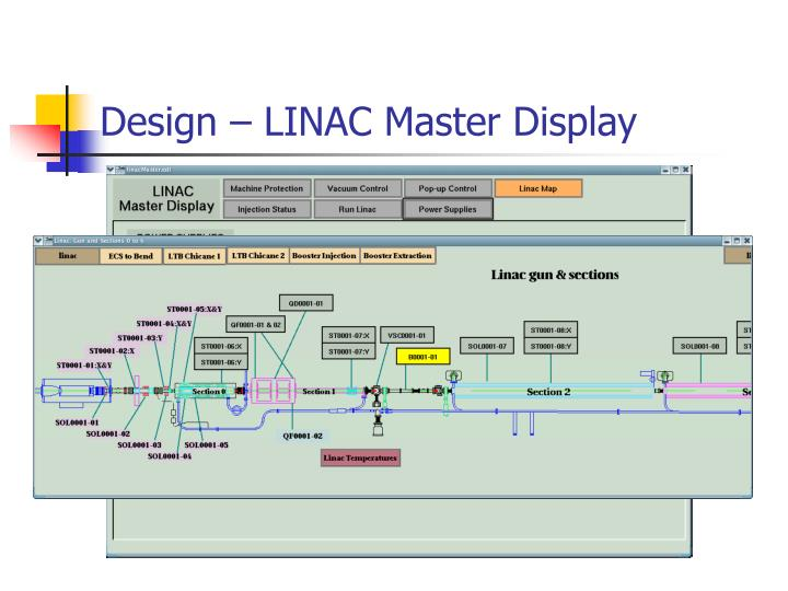 Design – LINAC Master Display