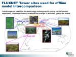 fluxnet tower sites used for offline model intercomparison
