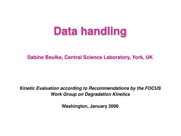 data handling n.