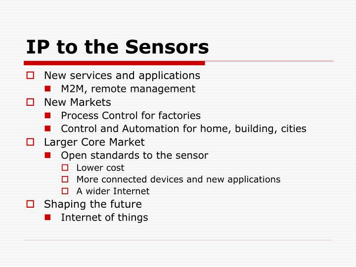 IP to the Sensors