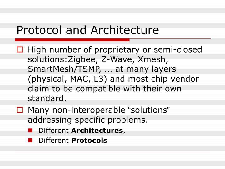 Protocol and Architecture