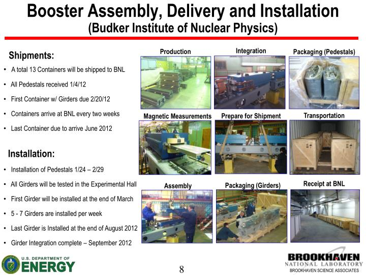 Booster Assembly, Delivery and Installation