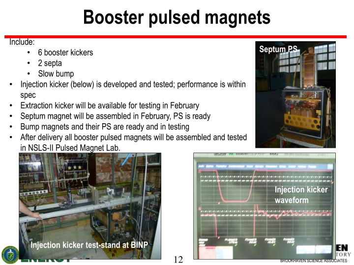 Booster pulsed magnets