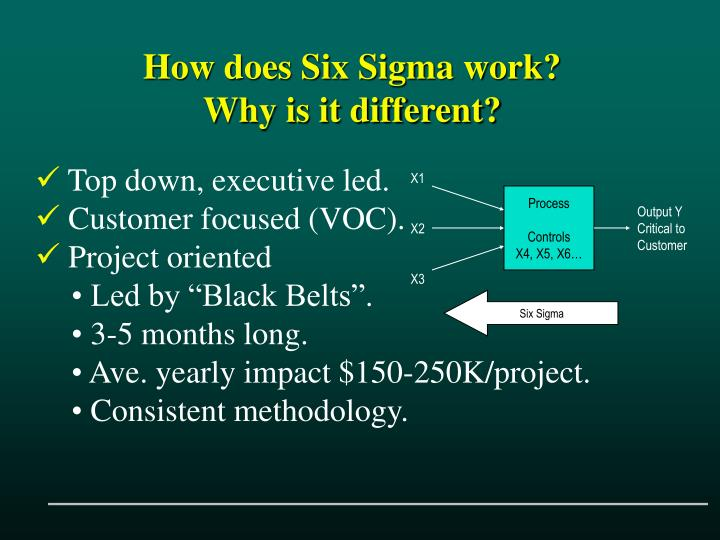 How does Six Sigma work?