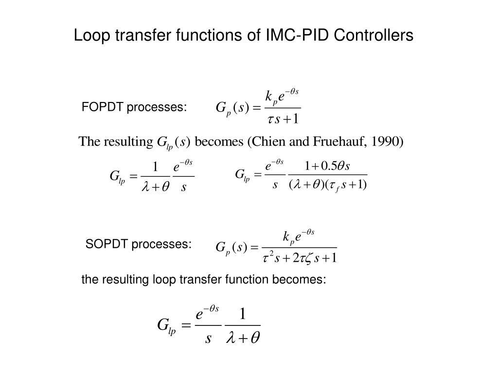 PPT - Optimization-based PI/PID control for SOPDT process