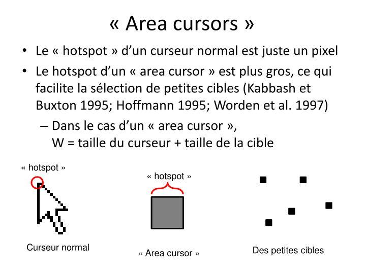 «Area cursors»