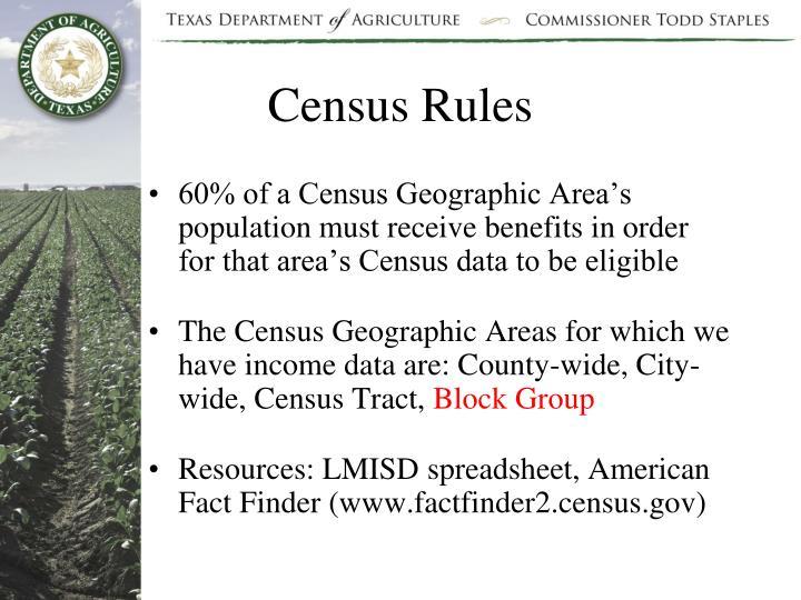 Census Rules