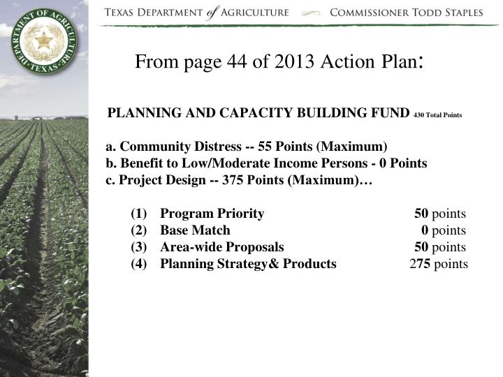 From page 44 of 2013 Action