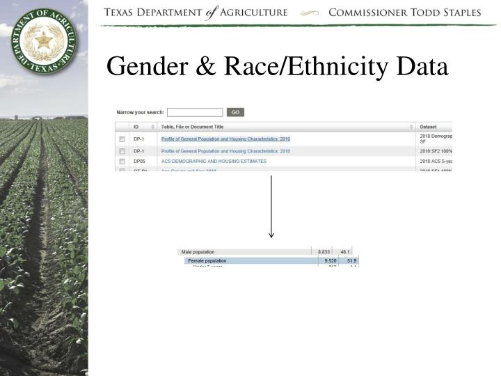 Gender & Race/Ethnicity Data