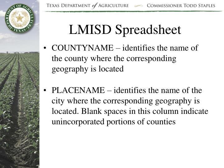 LMISD Spreadsheet