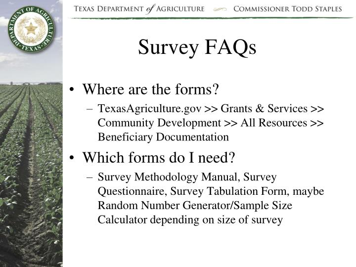 Survey FAQs