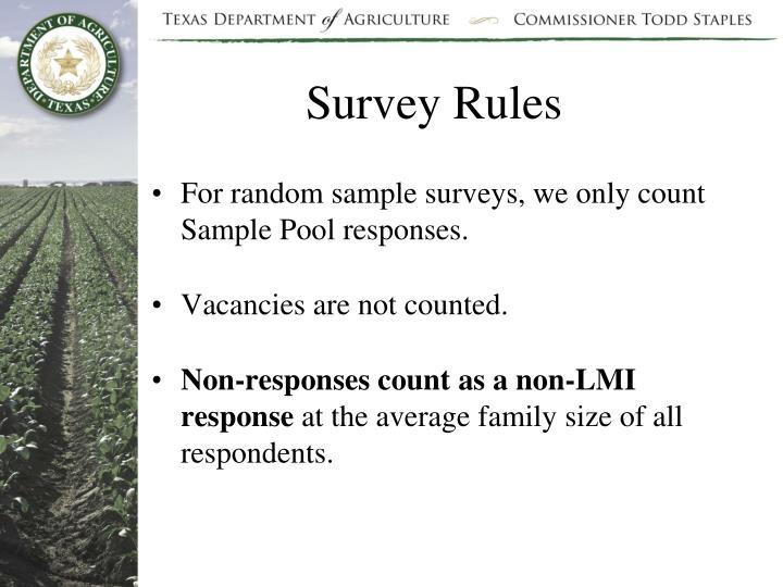 Survey Rules