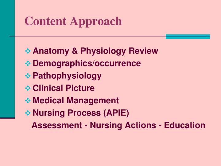 Content approach