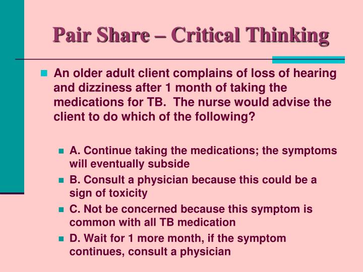 Pair Share – Critical Thinking