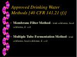 approved drinking water methods 40 cfr 141 21 f