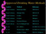 approved drinking water methods