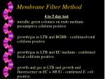 membrane filter method