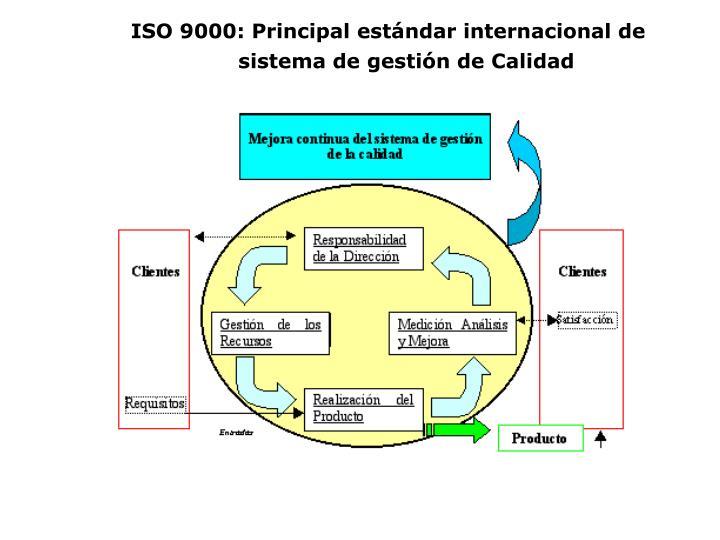 ISO 9000: Principal estándar internacional de sistema de gestión de Calidad