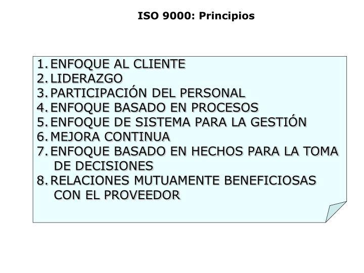 ISO 9000: Principios