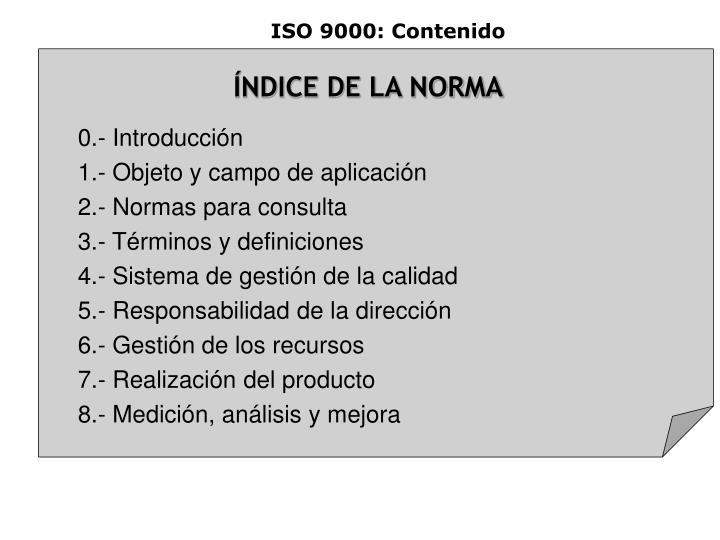 ISO 9000: Contenido