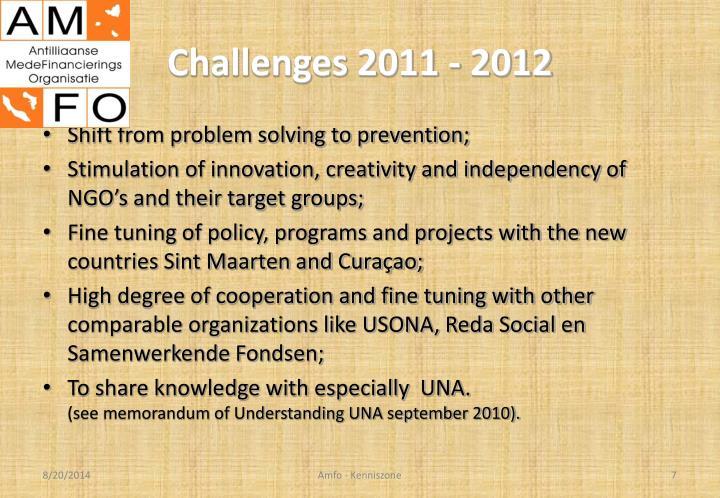 Challenges 2011 - 2012