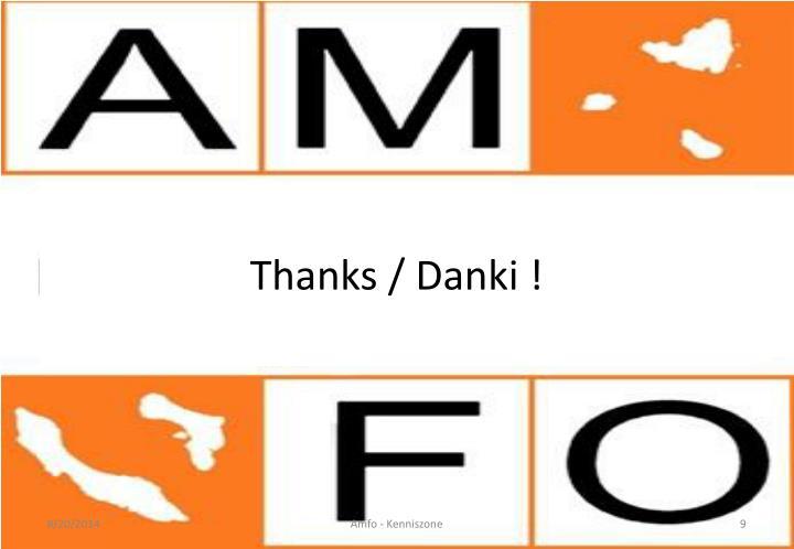 Thanks / Danki !