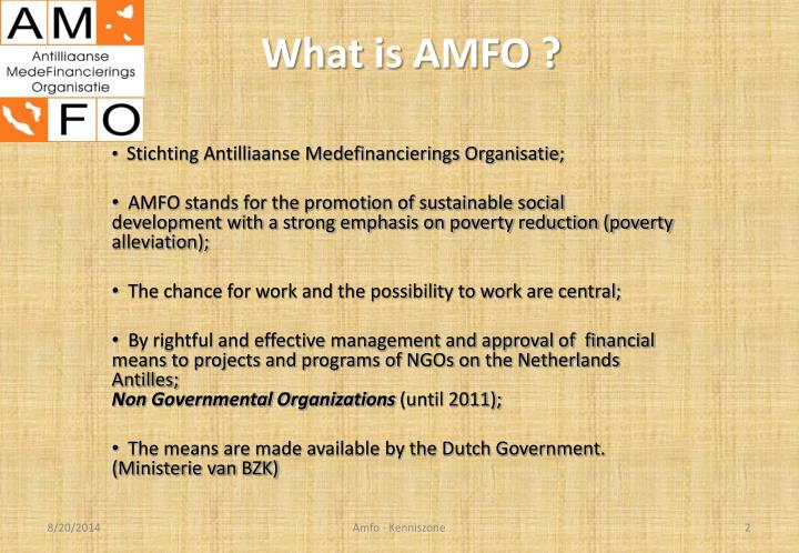 What is amfo