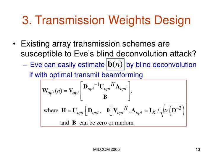 3. Transmission Weights Design