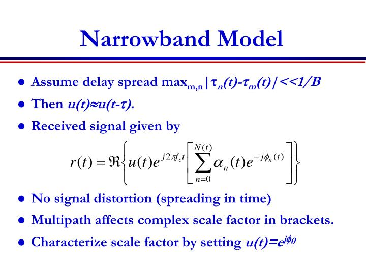 Narrowband model