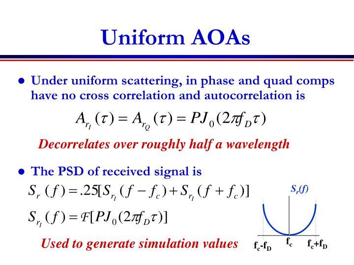 Uniform AOAs