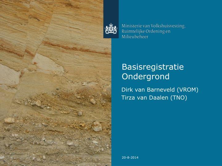 Basisregistratie ondergrond
