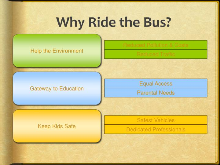 Why Ride the Bus?