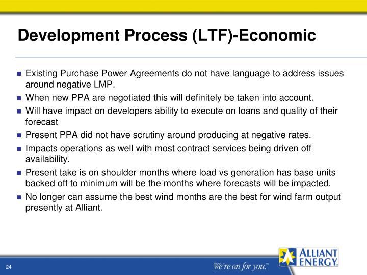 Development Process (LTF)-Economic