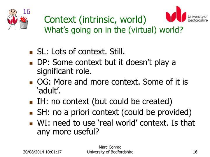 Context (intrinsic, world)