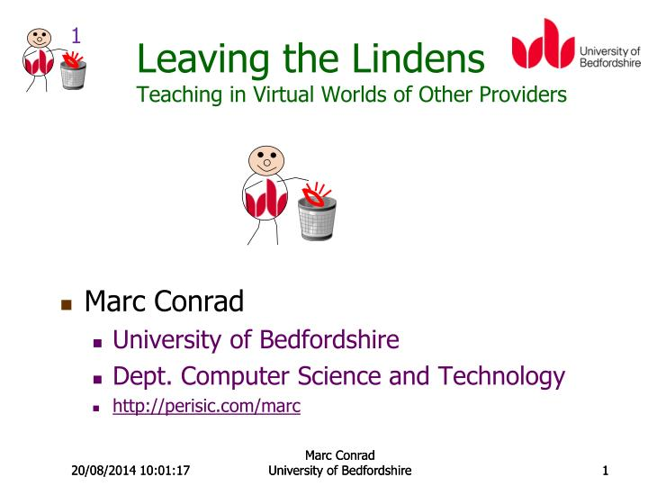 Leaving the lindens teaching in virtual worlds of other providers