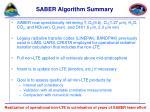 saber algorithm summary