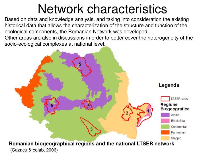 Network characteristics