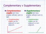 complementary v supplementary