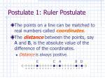 postulate 1 ruler postulate