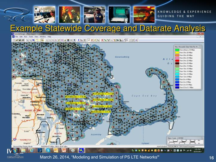 Example Statewide Coverage and Datarate Analysis