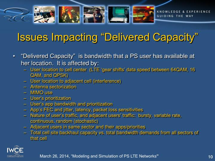 "Issues Impacting ""Delivered Capacity"""