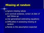 missing at random1