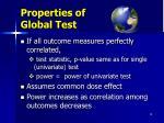 properties of global test