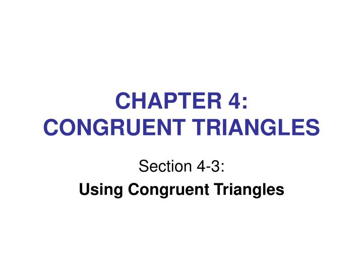 chapter 4 congruent triangles n.