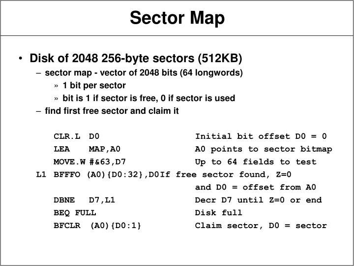 Disk of 2048 256-byte sectors (512KB)