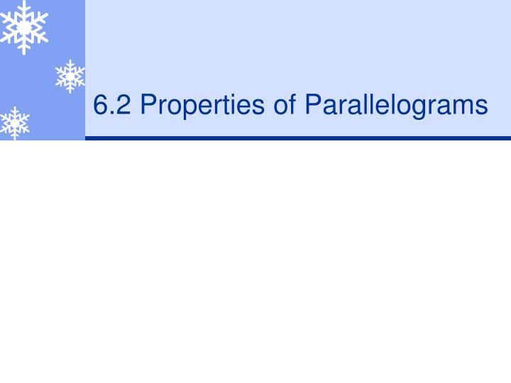 6 2 properties of parallelograms