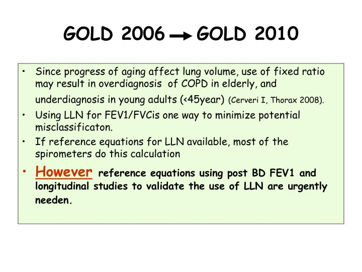 GOLD 2006    GOLD 2010